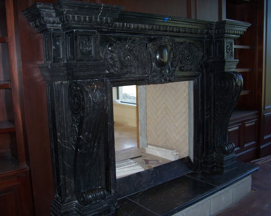 Installations - Custom hand carved European style marble mantle