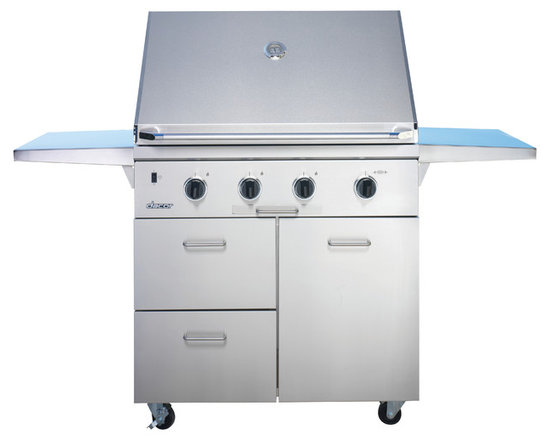 "Dacor Epicure 36"" Outdoor Grill Cart, Stainless Steel with Chrome Trim 