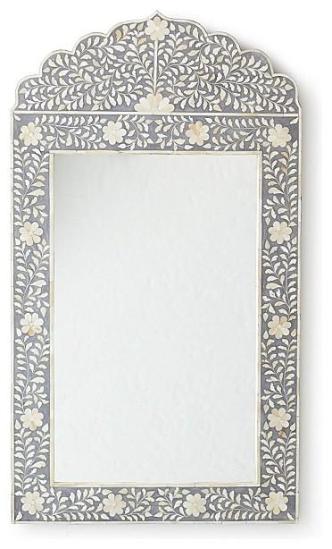 Christmas Tree Recycling Gloucester : Maya inlay mirror grey contemporary wall mirrors