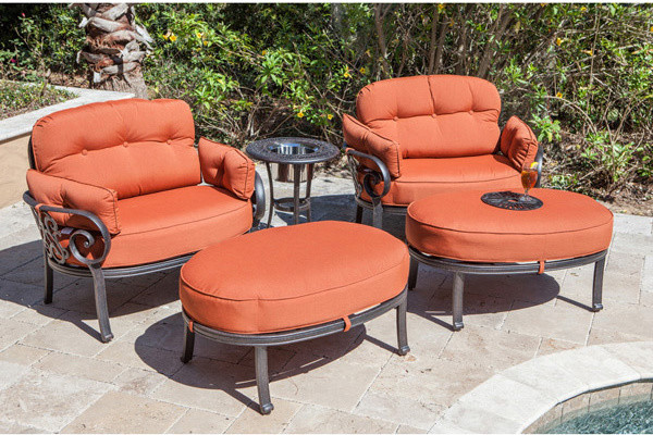 Brid on Moore ADT 1 Tuscany Oversized Outdoor Club Chair Set with Ic