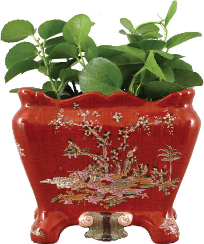 CRIMSON COURTYARD RECTANGULAL PLANTER traditional-indoor-pots-and-planters