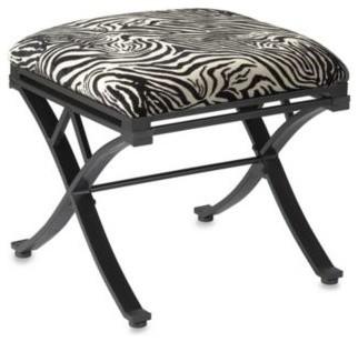 Zebra Vanity Stool Contemporary Vanity Stools And