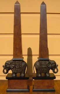 "... BEAUTIFUL ELEPHANT OBELISKS"". 