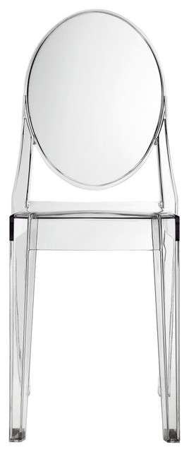 Philippe Starck Style Ghost Side Chair Clear contemporary-dining-chairs
