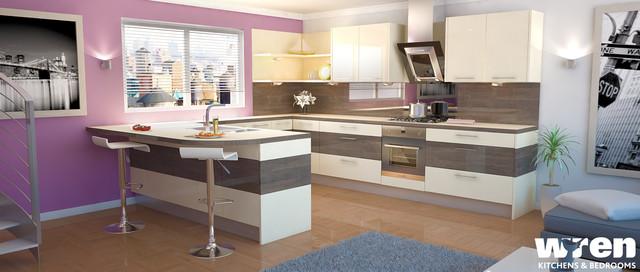 Wren Kitchens - Mali Wenge contemporary-kitchen