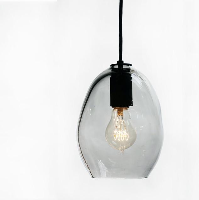 Petit Paris Glass Pendant Light For Sale: Petite Bubble Hand Blown Glass Pendant Light, Smoke