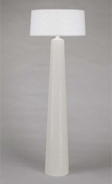 Robert Abbey Rico Espinet Fuzo Koffi Floor Lamp-White Shade traditional-floor-lamps