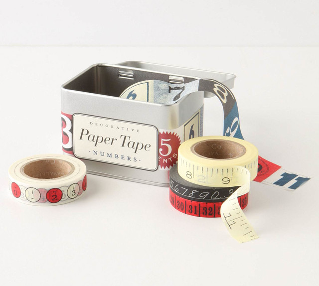 Numbers Paper Tape eclectic desk accessories