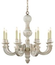 Visual Comfort Small Dexter Chandelier in Belgian White traditional chandeliers
