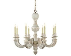 Visual Comfort Small Dexter Chandelier in Belgian White traditional-chandeliers