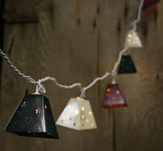 Metal Lantern Electric Party Lights, Fourth of July contemporary-holiday-lighting