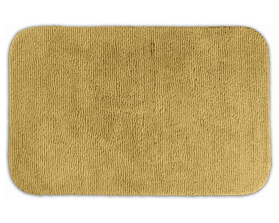 "Sands Rug - Cheltenham Linen Washable Bath Rug (2'6"" x 4'2"") - Add a layer of plush comfort and safety with the inviting Cheltenham bath and spa rug collection. Each piece, whether a bath runner, bath mat or contoured rug, is created from soft, durable, machine-washable nylon. Each floor piece is backed with skid-resistant latex for safety."