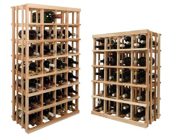 Wine Cellar Innovations - Magnum Bottle Rack; Vintner: Rustic Pine, Unstained - 3 Foot - This versatile magnum storage wine rack allows for a variety of different-sized bottles to be stored together in the same wine rack. Wine bottles ranging from a standard 750 ml size all the way up to a double magnum can be easily stored in the same space due to the larger bin format design of this wine rack. Please note only a case of wine can be stored on top of rack. We do not recommend storing loose wine bottles on top. Moldings and platforms sold separately. Assembly required.