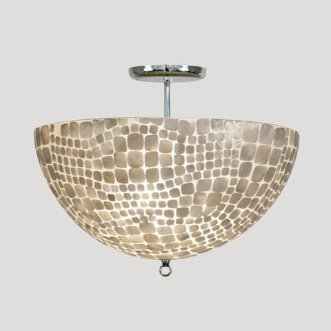 Worlds away croc flush mount capiz shell fixture for Shell ceiling light fixtures