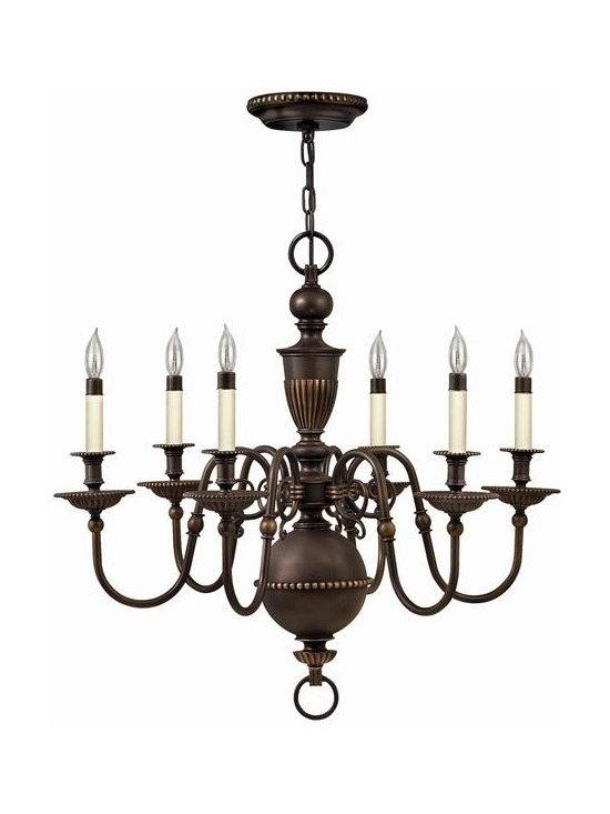 Hinkley Lighting 4416OB 6 Light Chandelier Cambridge Collection -