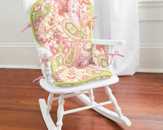 Lime and Pink Paisley High Chair Pad -
