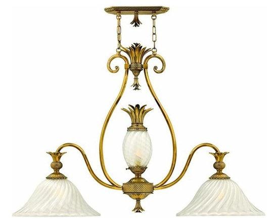 Hinkley Lighting 4888BB 3 Light Pendant Plantation Collection -