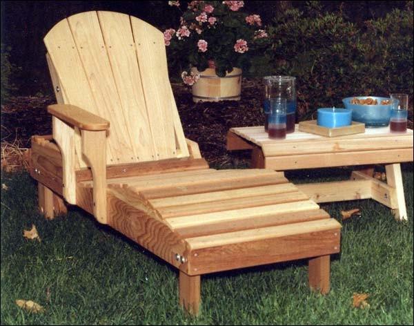 Cedar adirondack chaise lounge contemporary adirondack for Adirondack chaise lounge