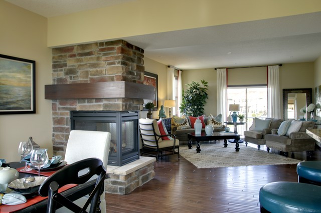 model home living room eclectic living room minneapolis by