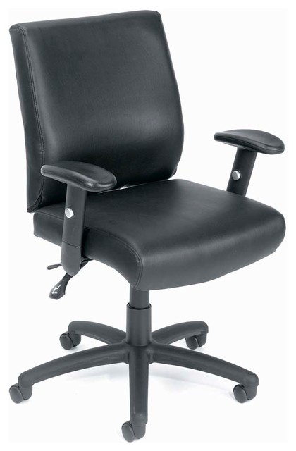 Boss Chairs Boss Mid Back Caressoft Executive Chair with Seat Slider traditional-office-chairs