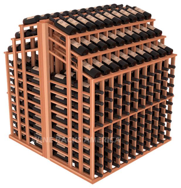 Triple Reveal Aisle 440 Bottle in Redwood traditional-wine-racks