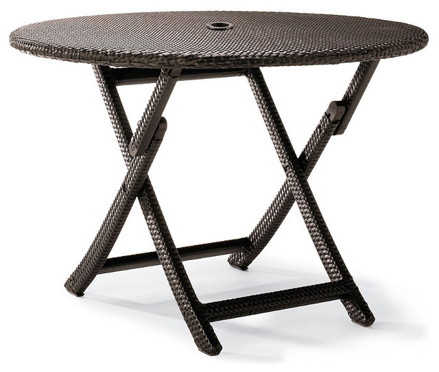 cafe round folding table traditional outdoor tables by frontgate