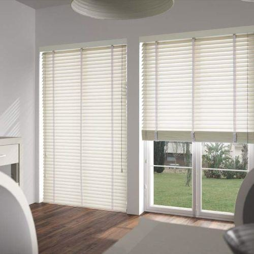 American Blinds Signature Wood In Almost White Contemporary