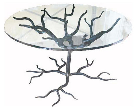 Wrought Iron Tree Table - http://www.rtfacts.com/shop/dining-tables/wrought-iron-tree-table/