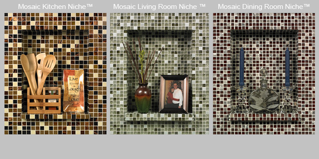 Mosaic Niche Kit eclectic bathroom tile