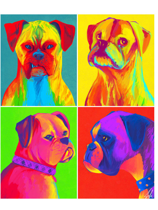 Boxers Original Fine Art Print by Artistic Oddities on Etsy -