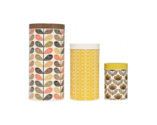 Orla Kiely Canisters - Yellows and Browns (Set of 3) -