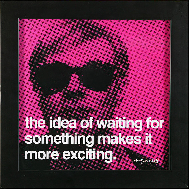 Waiting Andy Warhol Quote and Print | Z Gallerie contemporary-artwork