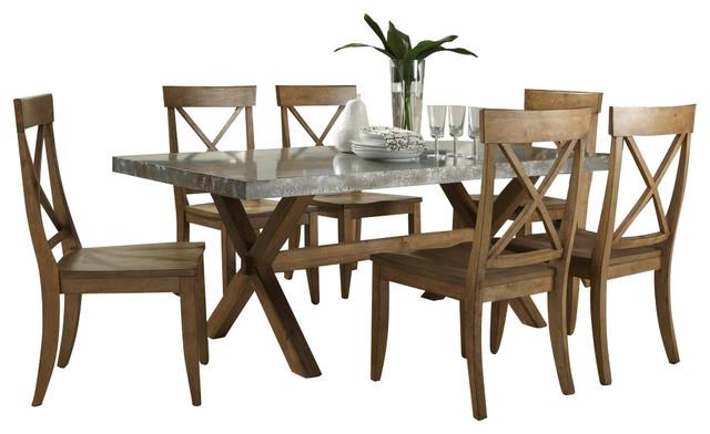 Liberty Furniture Keaton 5 Piece 76x38 Dining Room Set in Medium Wood furniture