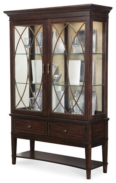 ART Furniture - Intrigue Display China Cabinet - ART-161241-2636TP--2636BS - Transitional ...