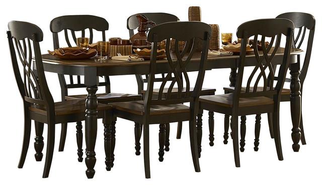 Homelegance Ohana Rectangular Leg Dining Table In Black