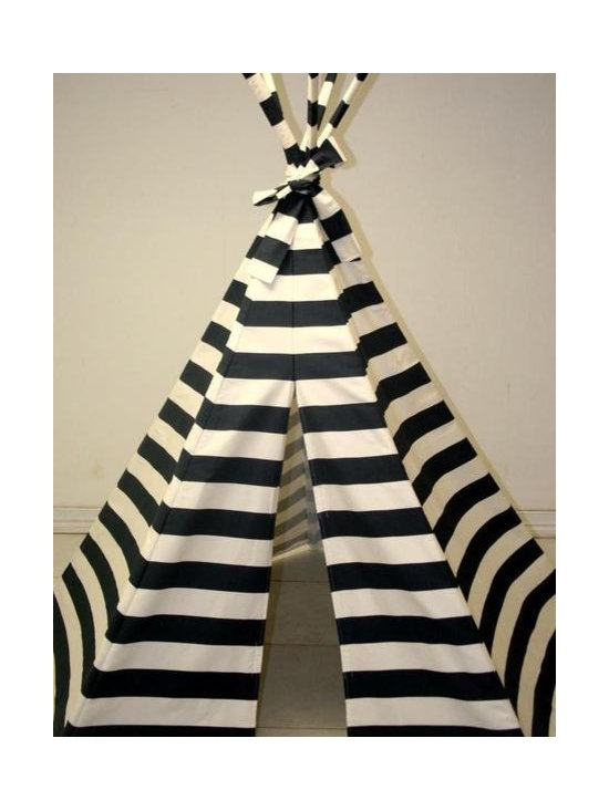 Navy Blue Stripe Teepee -