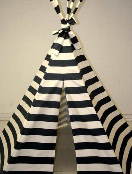 Navy Blue Stripe Teepee contemporary-kids-toys-and-games