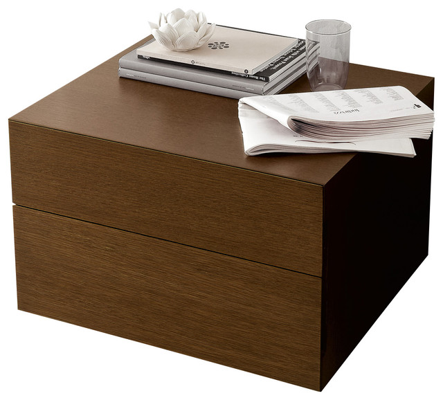 Sound Nightstand-Tobacco Oak - Modern - Nightstands And Bedside Tables - by Inmod