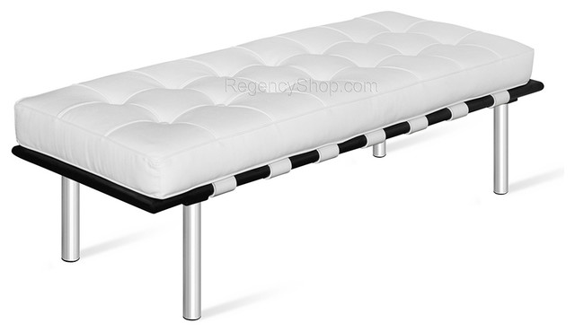 Ibiza Bench - White - modern - home office products - los angeles