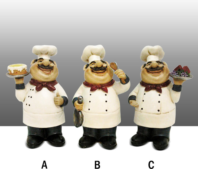 Fat Chef Kitchen Accessories: Fat Chef Kitchen Statue Figure Table Art Decor Complete