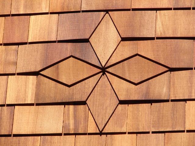 Cedar Shingle Diamond Pattern - Rustic - boston - by Austin Design Inc