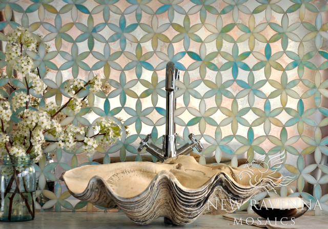 Fiona Jewel Glass and Mirror Mosaic contemporary-tile