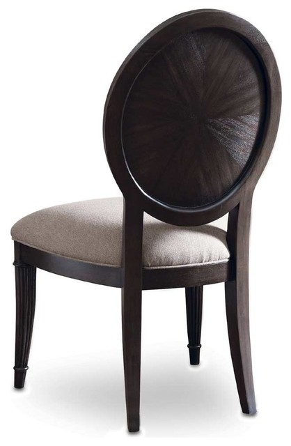 A R T Optum Oval Back Side Chair Transitional Living