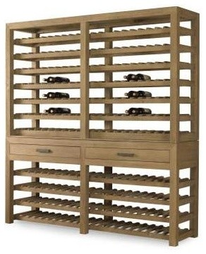 Rustic Wood Wine Storage Cabinet contemporary-wine-racks