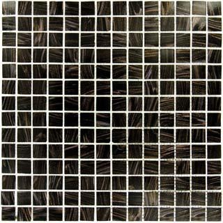 Black Iridescent Glass Mosaic Tile mosaic-tile