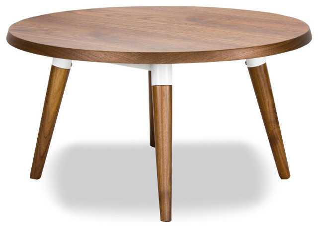 Copine Walnut Round Coffee Table modern-coffee-tables