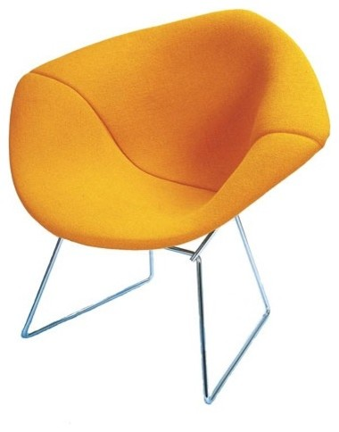 Bertoia Diamond Chair with Full Cover modern-living-room-chairs