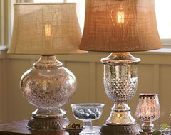 Serena Antique Mercury Glass Lamp Bases traditional-table-lamps