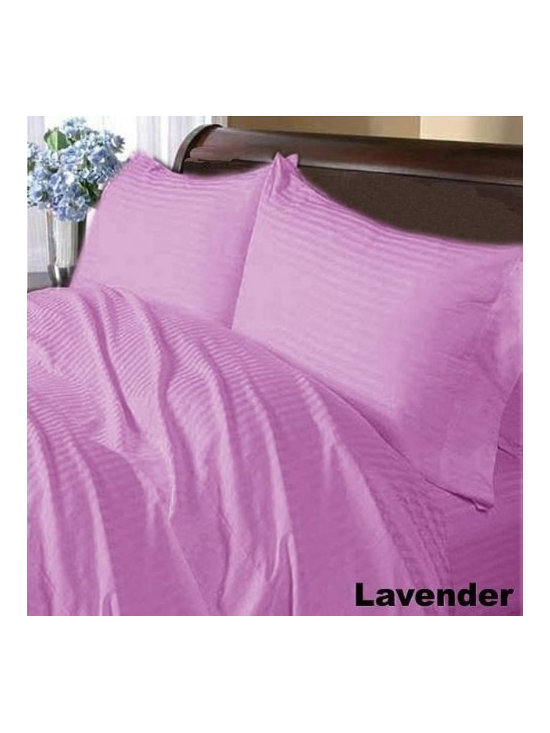 600TC Stripe Lavender Flat Sheet & 2 Pillowcases - Redefine your everyday elegance with these luxuriously super soft Flat Sheet. This is 100% Egyptian Cotton Superior quality Flat Sheet that are truly worthy of a classy and elegant look.