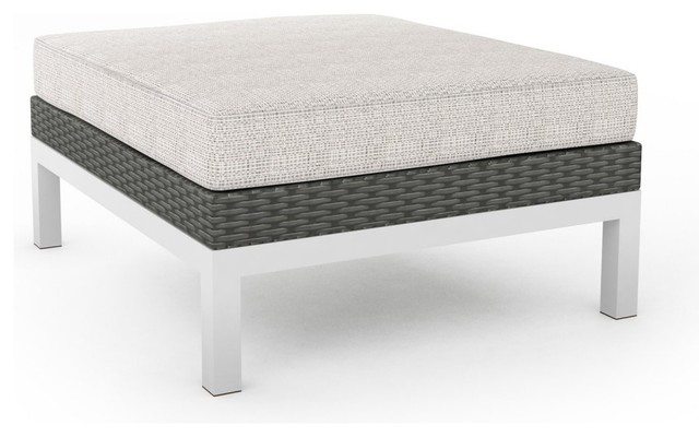 Sonax Beach Grove Ottoman in River Rock Weave modern-footstools-and-ottomans